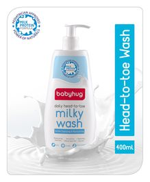 Babyhug Daily Head To Toe Milky Wash - 400 ml
