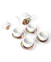Masha And The Bear Porcelain Toy Tea Set - 12 Pieces
