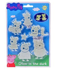 Peppa Pig Glow in Dark Stickers - Grey