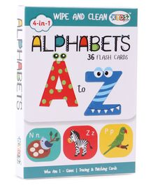 Kyds Play 4 in 1 Flash Cards of Alphabets - 36 Flash Cards