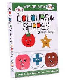 Kyds Play Flash Cards of Colours & Shapes White - 36 Flash Cards
