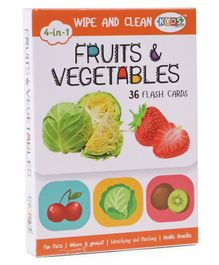 Kyds Play Flash Cards of Fruits & Vegetables White - 36 Flash Cards