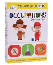 Kyds Play Occupation Themed Wipe & Clean Flash Cards - 36 Flash Cards