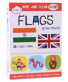 Kyds Play Flash Cards of Flags White - 36 Flash Cards