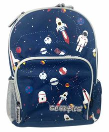 Scoobies Glow in Dark Backpack Space Theme Print Navy - 17.7 Inches