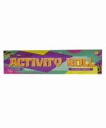 Scoobies Activity Roll with  12 Colour Pencils - English