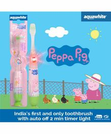 aquawhite Peppa Pig Flash Toothbrush - Green