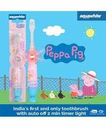 aquawhite Kids Peppa Pig Flash Toothbrush - Blue