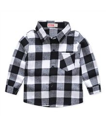 Pre Order - Awabox Checkered Full Sleeves Shirt - Black