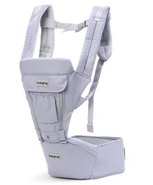 Babyhug Cherish 5-in-1 Hip Seat cum Baby Carrier - Dark Grey
