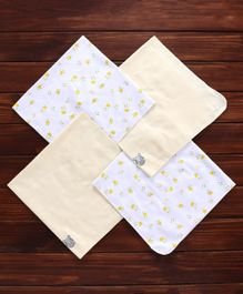 Owen Printed Cotton Blankets Pack of 4 - Yellow