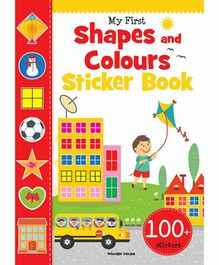 Wonder House Books My First Shapes and Colours Stickers - English