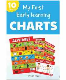 Wonder House Books Early Learning Educational Charts Pack of 10  - English