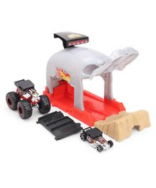 Hot Wheels Monster Truck Play Set  - Red & Grey