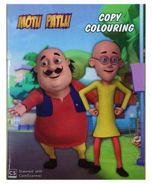 Motu Patlu Copy Coloring Book Friendship Theme - English