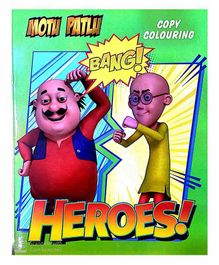 Motu Patlu Copy Coloring Book Heroes Theme - English