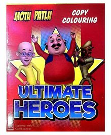 Motu Patlu Copy Coloring Book Ultimate Heroes Theme - English