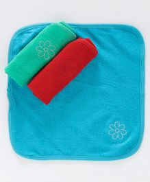 Simply Hand & Face Towels Pack of 3 - Blue
