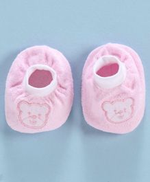 Simply Booties Teddy Embroidery - Pink