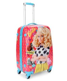 Barbie Polycarbonate Luggage Trolley Bag - Red