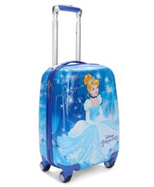 Disney Princess Cindrella Luggage Bag with Handle - Blue