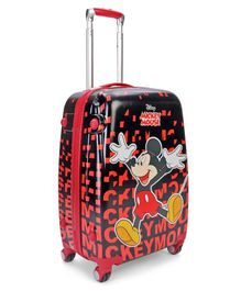 Disney Mickey Mouse And Friend Luggage Trolley Bag - Red & Black