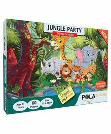 Pola Puzzles Jungle Party Puzzles Multicolor - 60 Pieces