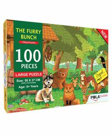 Pola Puzzles The Furry Bunch Animals Jigsaw Multicolor - 100 Pieces