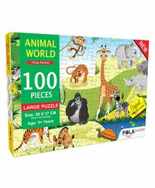 Pola Puzzles Animal World Jigsaw Multicolor - 100 Pieces