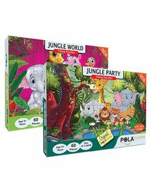 Pola Puzzles Animal Jigsaw Multicolor - 60 Pieces Each