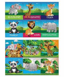 Pola Puzzles Animal Jigsaw Set of 12 - 9 Pieces Each