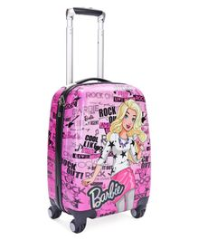 Barbie Polycarbonate Luggage Trolley Bag - Pink