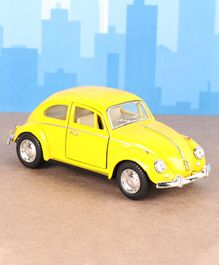 Kinsmart Die Cast Pull Back Volkswagen Classical Beetle Toy Car - Yellow