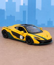 Kinsmart Die Cast Pull Back McLaren P1 Toy Car - Yellow
