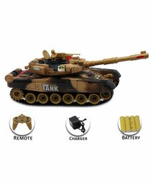 Fiddlerz Remote Control Tank with Rechargeable Batteries (Color May Vary)