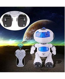 Fiddlerz Remote Control Robot with 3D Lights and Sounds - White