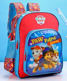 Paw Patrol School Bag Blue & Red - 16 Inches