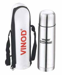 Vinod Cookware Stainless Steel Water Bottle with Pouch Silver - 500 ml