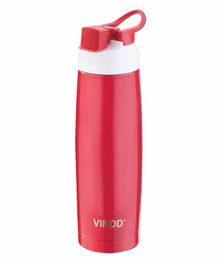 Vinod Cookware Stainless Steel Hot & Cold Water Bottle Dark Red -  500 ML