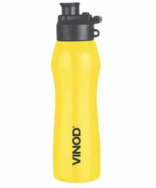 Vinod Cookware Dazzle Stainless Steel Water Bottle Yellow - 600 ml