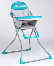 1st Step High Chair with Foot Rest - Blue Grey