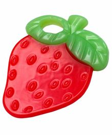Small Wonder Strawberry Silicone Teether - Red