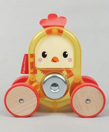 Fisher Price Vehicle Rolling Hen - Yellow Red