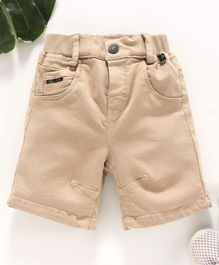 Little Kangaroos Solid Color Shorts - Fawn
