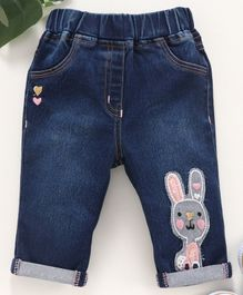 Little Kangaroos Denim Jeans Bunny Patch - Blue