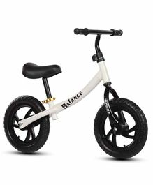Syga Balance Bike with Adjustable Seat Height - White