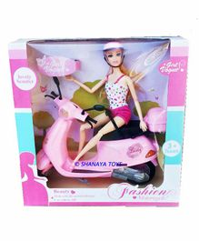 Shanaya Doll Set with Die Cast Scooter - (Color May Vary)