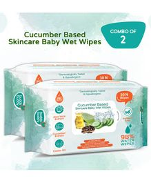 Buddsbuddy Cucumber Based Skincare Wet Baby Wipes Pack of 2 - 30 Pieces Each