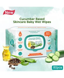 Buddsbuddy Cucumber Based Skincare Wet Baby Wipes - 80 Pieces