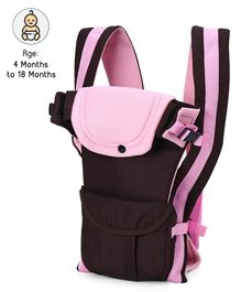 3 Way Baby Carrier with Head Support - Pink Brown